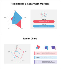 Filled Radar Chart with Text_00