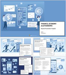 Finance Economy and Pandemic keynote presentation templates free_25 slides