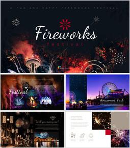 불꽃 놀이 축제 편집이 쉬운 구글 슬라이드 템플릿_00