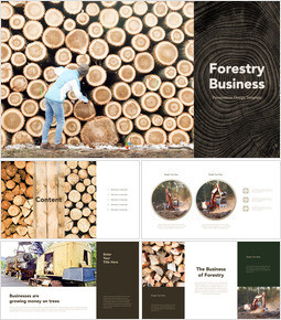Forestry Business template keynote_40 slides