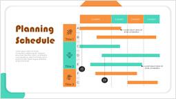 Programma di pianificazione dell\'avvio del diagramma di Gantt Layout del ponte_1 slides