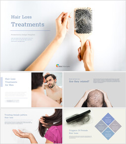 Hair Loss Treatments google slides template_00