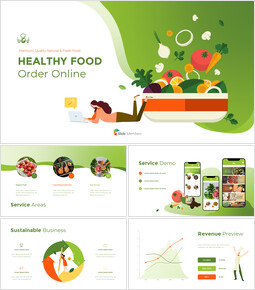 Healthy Food Order Online Animation PPT Download powerpoint animation_13 slides