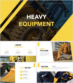 Heavy Equipment beautiful keynote templates_00