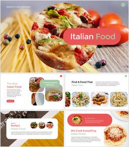 이탈리아 음식 비즈니스 프레젠테이션 템플릿_00