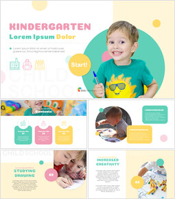 Kindergaten Business plan PPT Templates_00