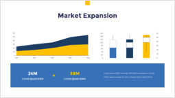 Grafico di espansione del mercato PowerPoint Slide Deck_2 slides