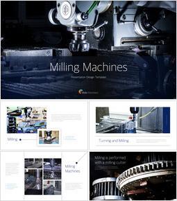 Milling Machines presentation slide design_40 slides