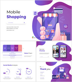 Mobile Shopping Service Animated Design powerpoint animation_00