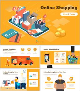 Online Shopping powerpoint themes_00