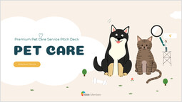 Pet Care Service Pitch Deck Cover Simple Deck_00
