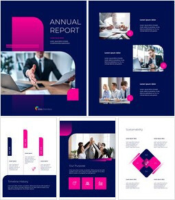 Pink Business Annual Report Template template design_00