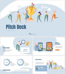 Modello di presentazione del pitch deck Presentazione del passo degli investitori PPT_00