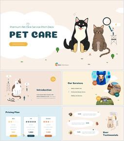 Diseño animado del servicio de cuidado de mascotas premium animación de powerpoint_00