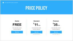 価格ポリシー パワーポイントのレイアウト_1 slides