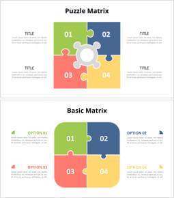 Puzzle Matrix Infographic Diagram_14 slides