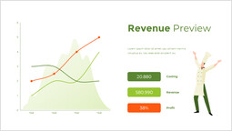Grafico anteprima entrate Una slide di powerpoint_2 slides