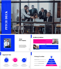 Simple Color Pitch Deck Template Presentation PowerPoint Templates Design_00