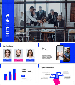 Simple Color Pitch Deck Template startup pitch deck ppt_00