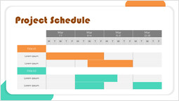 Pianificazione semplice del progetto del diagramma di Gantt Pagina del modello_1 slides