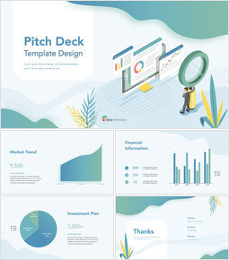 Simple Wave Background Pitch Deck keynote presentation templates free_00