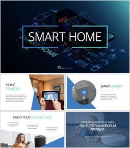 Smart Home company profile template design_00