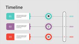 Discorso bolla Business Timeline Mazzo semplice_1 slides