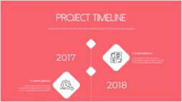 Timeline del progetto di avvio Mazzo semplice_3 slides