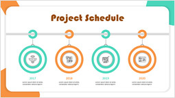 Startup Target Project Schedule Page Template_1 slides