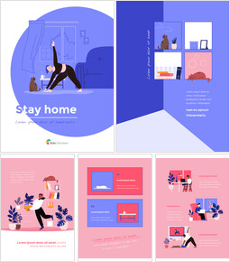 Stay Home Flat Illustration Design Pack Google Slides to PowerPoint_00