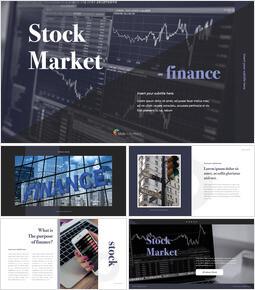 Stock Market company profile template design_40 slides