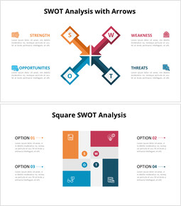 SWOT Analysis with Icons Diagram Animated PowerPoint Templates_6 slides