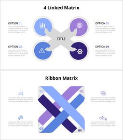 The 4 Options Cross Matrix Infographic Diagram_8 slides
