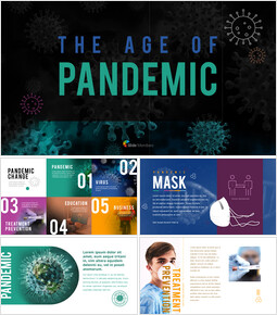 The Age of Pandemic company profile template design_00