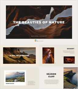 The Beauties of Nature company profile template design_00