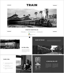 Train photo portfolio Presentations PPT_00