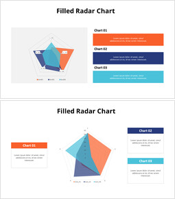 Transparent Colored Radar Chart with Text_00