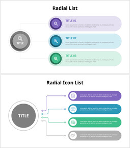 Vertical Radial List Diagram_16 slides