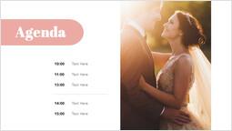 Agenda di nozze Modello di pagina_1 slides