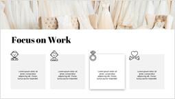 Matrimonio concentrarsi sul lavoro diapositiva di presentazione_1 slides