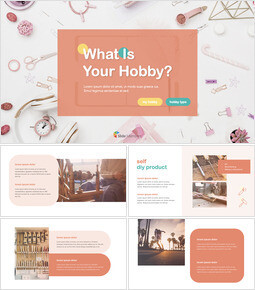 What Is Your Hobby? template keynote_40 slides