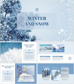 Winter Snow Background PowerPoint_00