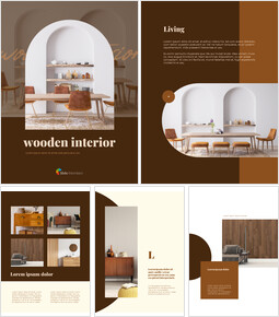 Wooden Interior Vertical Layout Best PowerPoint Presentations_00