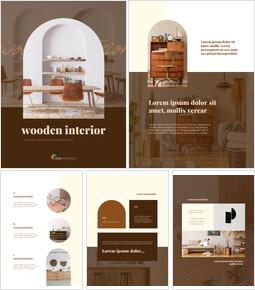 Wooden Interior Vertical Layout slides presentation_00