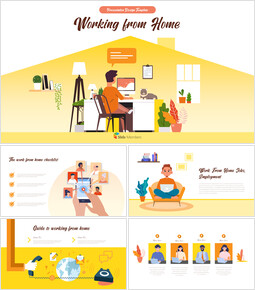 Working from Home Business plan PPT Templates_40 slides