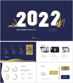 2021 Business Start Pitch Deck keynote template download_14 slides