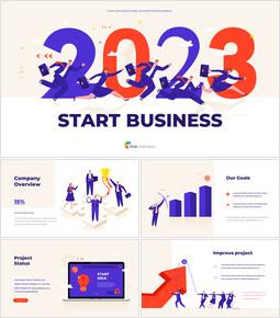 2021 비즈니스 템플릿 시작 파워포인트 프레젠테이션 슬라이드_00