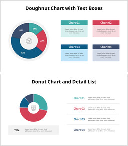 4 Division Doughnut Chart and Text Boxes_00