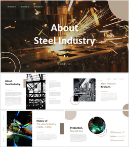 About Steel Industry Business Strategy PPT_40 slides