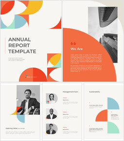 Abstract Annual Report Template PPT Presentation Samples_00